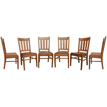 Set of 6 Oak Dining Chairs C1935