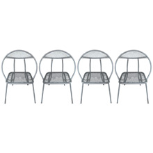 Set of 4 Salterini-Style Clam Shell Folding Chairs C1960