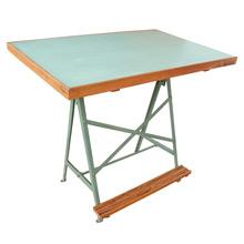 Mid-Century Drafting Table W/ Steel Trestle Base C1965