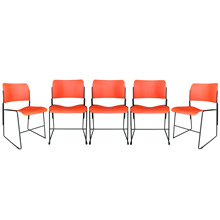 Set of 5 40/4 Stacking Chairs by David Rowland C1960s
