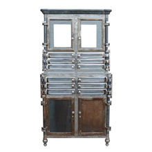 Incredible Chrome and Raw Steel Medical Cabinet c1920