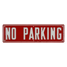 Vintage Stamped Metal No Parking Sign C1960s