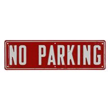Vintage Stamped Metal No Parking Sign C1960s