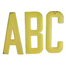 Rustic Yellow ABC Sign C1940s