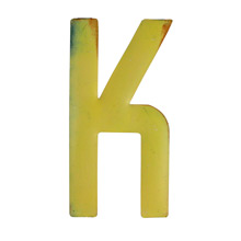 Rustic Yellow Letter K C1940s