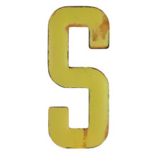 Rustic Yellow Letter S C1940s
