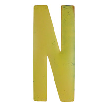 Rustic Yellow Letter N C1940s