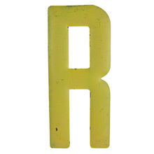 Rustic Yellow Letter R C1940s