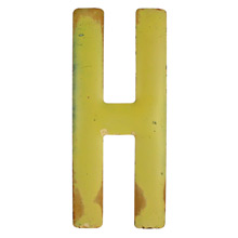 Rustic Yellow Letter H C1940s
