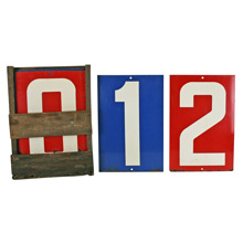 Complete Set of Gas Station Numbers W/ Box C1950s