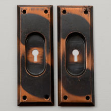 Pair of Bevel-Edge Pocket Door Pulls, C1905
