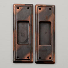 Essential Japanned Copper Pocket Door Set C1900