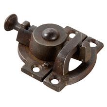 Hefty Cast Iron Spring-Style Sash Lock, Pat. 1879