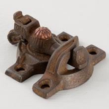 Cast Iron Spring-Style Sash Lock w/ Copper Detail C1890