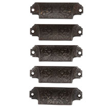 "Set of 5 Reading Company ""Windsor"" Bin Pulls C1885"