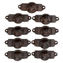 Set of 9 Reading Hardware Company Doggie Bin Pulls C1875