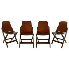 Set of 4 American Seating Company Folding Chairs C1941
