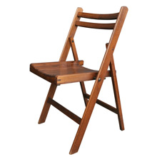 Stained Maple Folding Chair C1950