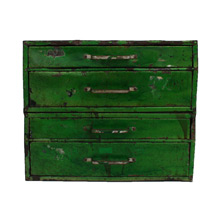 Industrial Metal Parts Cabinet in Bright Green C1940s