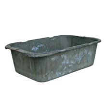 Weathered Galvanized Steel Planting Bins C1930s