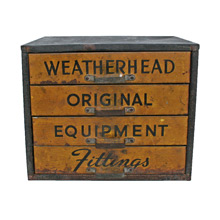 Vintage Industrial Metal Parts Cabinet C1945