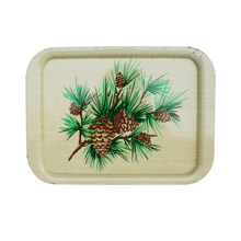 Mid-Century Dinner Tray with Pine Cone Motif C1950s