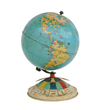 Mid-Century Global Air Race Game Globe C1952