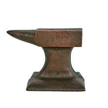 Cast Iron Anvil Bookends C1910s