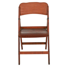 Veneered Maple Theater Folding Chair C1930s
