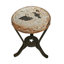 Steel Milking Stool with Star Cutout C1930s