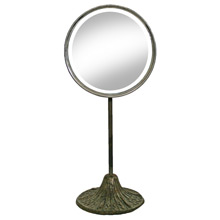 Small Vanity Mirror with Decorative Base C1900