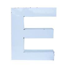White Enamel Letter E C1940s