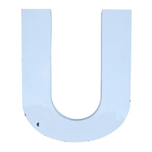 White Enamel Letter U C1940s