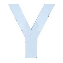 White Enamel Letter Y C1940s