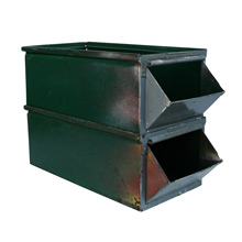 Pair of Large Industrial Stack Bins C1930s