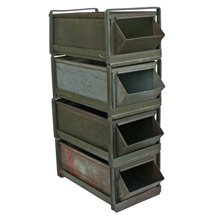 Large Lyon Co Industrial Stack Bin Unit C1930