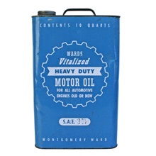 Montgomery Ward Motor Oil Can C1930s