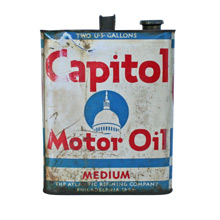 Capitol Motor Oil Can C1930s