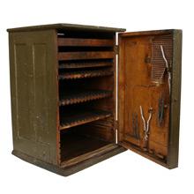 Rustic Printers Cabinet W/ Tools C1900