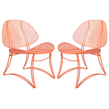 Pair of Orange Salterini Lounge Chairs C1955