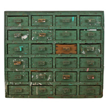 Incredible Hand-Built Industrial Storage Cabinet C1930