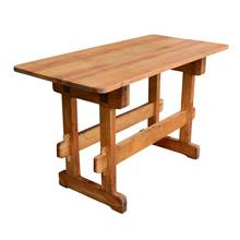 Maple Workbench W/ Trestle Base C1940