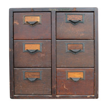 Early 6-Drawer Globe Card Catalog Cabinet C1890