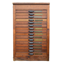 Golding & Co Type Tray Cabinet c1905