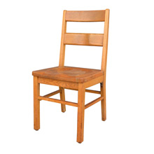Solid Oak Library Chair by Milton Bradley c1925