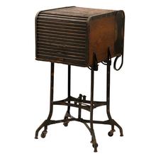 Rare Japanned Copper Toledo Roll-Top Typewriter Desk C1925