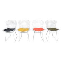 Set of Four Bertoia Chairs w/ Original Pads c1952