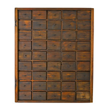 Hand-Made 36 Drawer Desk Organizer c1945