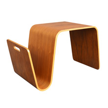 Bent Plywood Magazine Table by Knoll c1960s