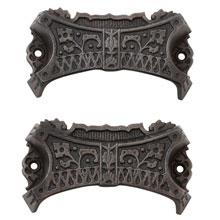 Set of 2 Renaissance Revival Cast Iron Bin Pulls C1870
